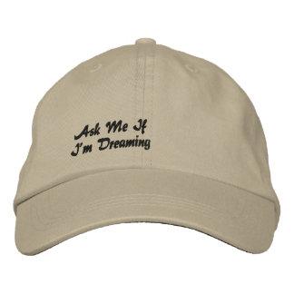 Fragen Sie mich, wenn ich gestickten Hut träume