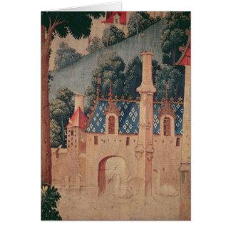 Fragment einer mittelalterlichen Tapisserie Karte