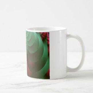 Fraktal farbige Spiralen Kaffeetasse