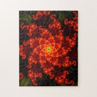 Fraktal-Flammen-Muster Puzzle