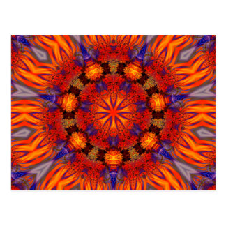 Fraktal-Kaleidoskop-Kunst 726 Postkarte