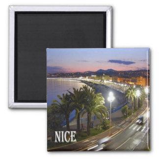 Franc - Frankreich - französisches Riviera - Nizza Quadratischer Magnet
