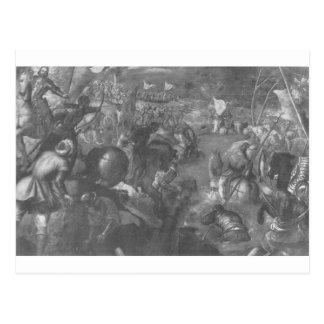 Francesco II Gonzaga gegen Charles VIII Postkarte