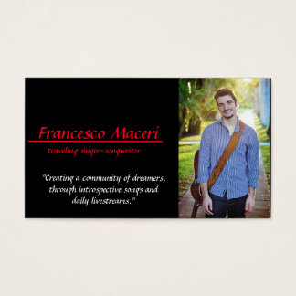 """Francesco Maceri"" Visitenkarte '3.5x2.0'"