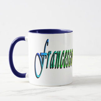 Francesco, Name, Logo, blaue kombinierte Tasse