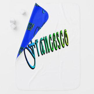 Francesco, Name, Logo, umschaltbare Baby-Decke Puckdecke