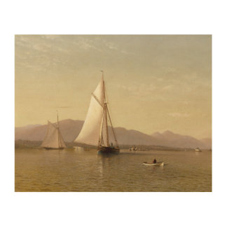 Francis Augustus Silva - der Hudson beim Tappan Holzwanddeko