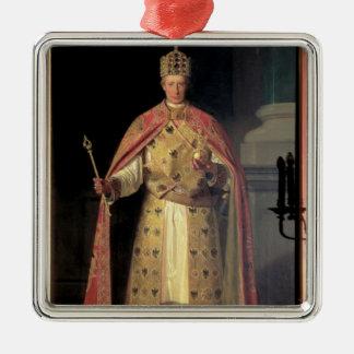 Francis II, heiliger römischer Kaiser Quadratisches Silberfarbenes Ornament