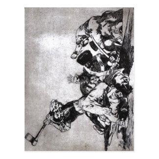 Francisco Goya, der selbe von Los desastres De-La Postkarte