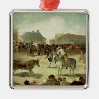 Francisco Jose de Goya   ein DorfBullfight Silbernes Ornament