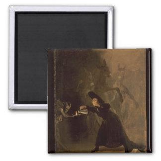 Francisco Jose de Goya y Lucientes | EL Hechizado Quadratischer Magnet