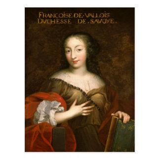 Francoise-Madeleine d'Orleans Herzogin des Postkarten