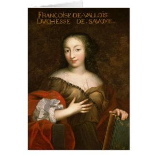 Francoise-Madeleine d'Orleans Herzogin des Wirsing Grußkarte