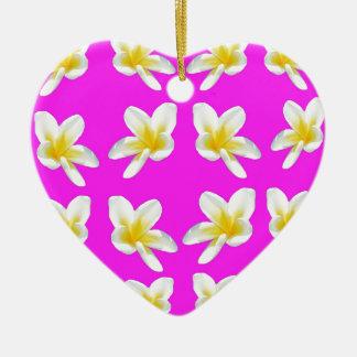 Frangipani_Blush, _ Keramik Herz-Ornament