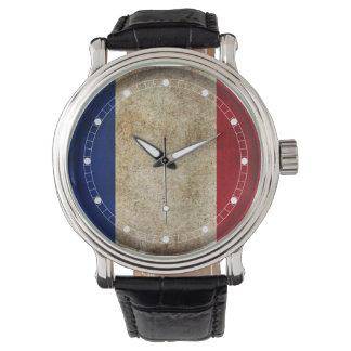 Frankreich-Flagge (mehrfache Modelle) Uhren