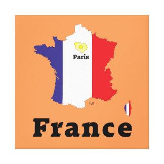 Frankreich, France, Francia Leinwand Gespannte Galerie Drucke