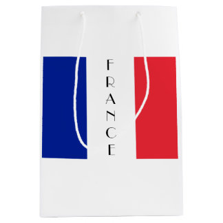 Frankreich, französische Flaggen-Geschenk-Tasche Mittlere Geschenktüte
