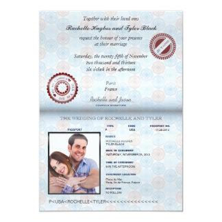 Frankreich-Pass-(übertragen) Hochzeits-Einladung 12,7 X 17,8 Cm Einladungskarte