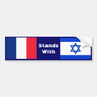 Frankreich steht mit Israel Autoaufkleber
