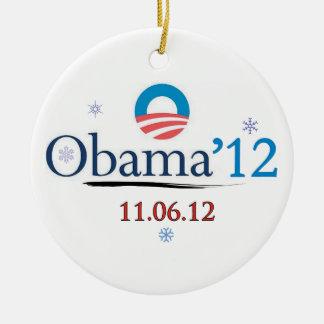 Frans Obamaweihnachtsverzierung 2012 Keramik Ornament