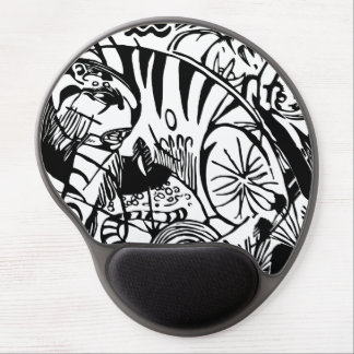 Franz Marc - Schwarzweiss-Tiger - abstrakte Kunst Gel Mousepad