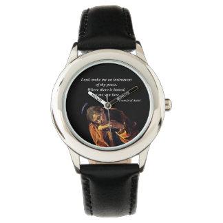 Franziskus-Instrument des Friedens Armbanduhr