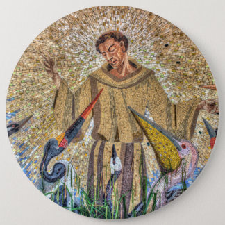 Franziskus von Assisi Mosaik Runder Button 15,3 Cm