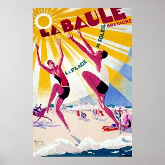 Franzose-Reise-Plakat La Baule Vintages Poster