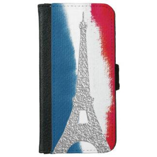 Franzosen des Eiffelturm-rote weiße Blau-| iPhone 6/6s Geldbeutel Hülle