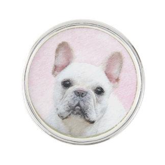 Französische Bulldogge (Creme/Weiß) Anstecknadel