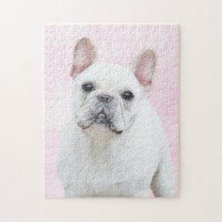 Französische Bulldogge (Creme/Weiß) Puzzle