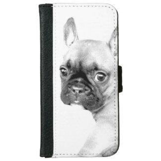 Französische Bulldogge iPhone 6 Geldbeutel Hülle