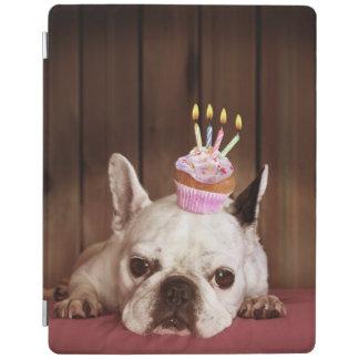 Französische Bulldogge mit Geburtstags-kleinem iPad Smart Cover