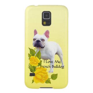 Französische Bulldogge und gelbe Rosen Hülle Fürs Galaxy S5
