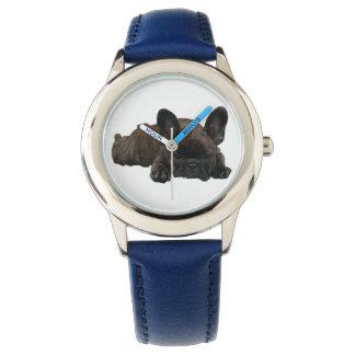 Französische Bulldoggen Kinder Armbanduhr