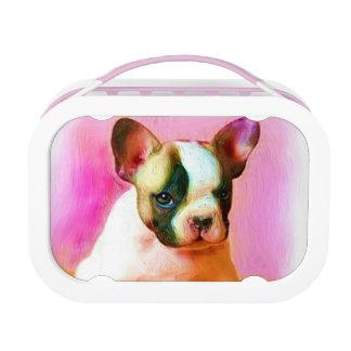 Französische Bulldoggen-Kunst Brotdose