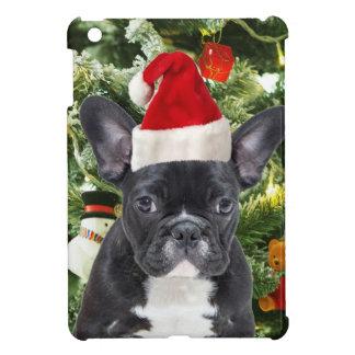 Französische Bulldoggen-Weihnachtsbaum verziert iPad Mini Hülle