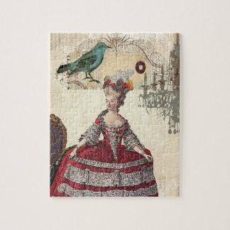 Französische Königin Marie Antoinette des Vintagen Puzzle