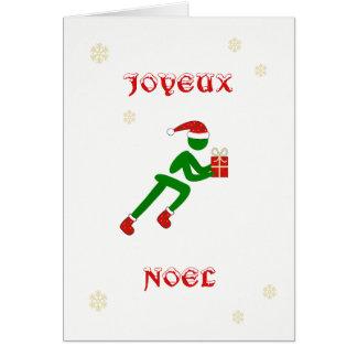 Französische Sprache des Joyeux Noël Karte