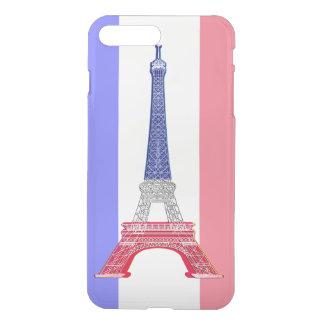 Französischer Flaggen-Eiffelturm Paris iPhone 8 Plus/7 Plus Hülle