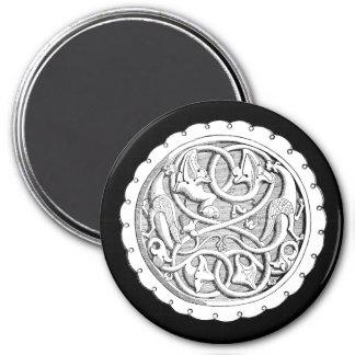 Französischer Stich-Magnet Runder Magnet 7,6 Cm