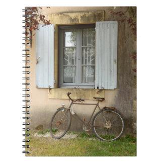 Französisches Haus-Foto-Notizbuch Spiral Notizblock