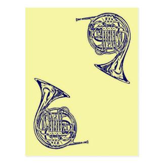 Französisches Horn Postkarte