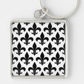 Französisches Lilie Muster-Pariser Entwurf Schlüsselanhänger