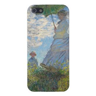 Frau Claude Monets   mit einem Sonnenschirm iPhone 5 Case