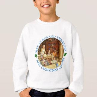 Frau Clause u. die Elfe backen Weihnachtsplätzchen Sweatshirt