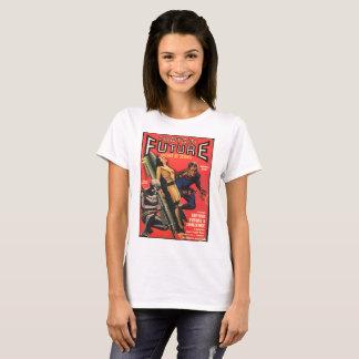 Frau gefangen genommen durch Roboter T-Shirt
