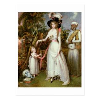 Frau Graham von Kinross, ihre Tochter und von Postkarte
