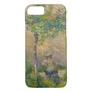 Frau im Garten (Öl auf Leinwand) iPhone 8/7 Hülle