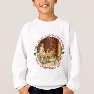 Frau Klaus u. Sankt Elfe backen Sweatshirt